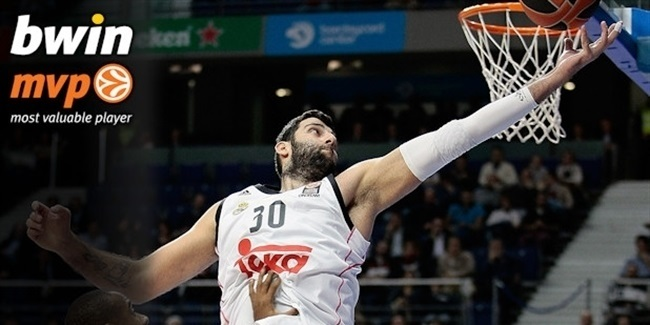 Regular Season, Round 10 bwin MVP: Ioannis Bourousis, Real Madrid