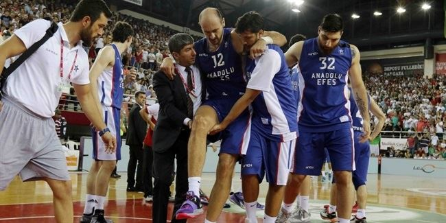 Anadolu Efes's Krstic suffers torn ACL