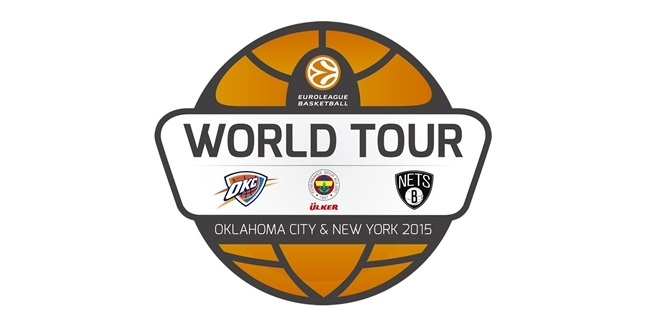 Fenerbahce Ulker Istanbul to make U.S. debut against Oklahoma City Thunder and Brooklyn Nets in Euroleague Basketball World Tour 2015