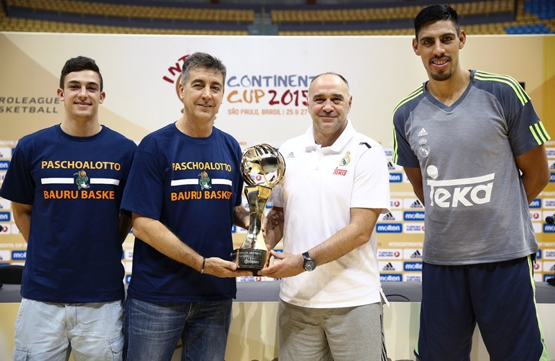 Ricardo Fisher, Guerrinha, Pabo Laso and Gustavo Ayon - Press Conference- Intercontinental Cup 2015 - EB15 (photo FIBA)
