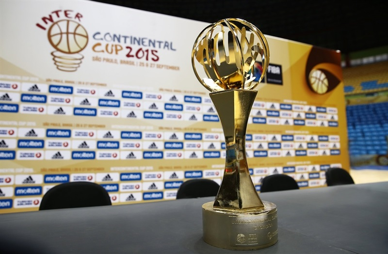 Intercontinental Cup Trophy - Press Conference- Intercontinental Cup 2015 - EB15 (photo FIBA)