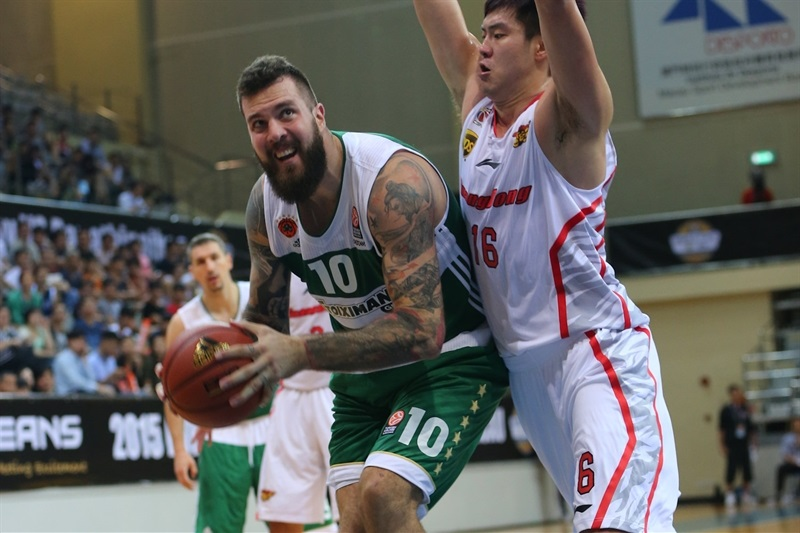 Miroslav Raduljica - Panathinaikos Athens vs. Guangdong Tigers - World Tour 2015 - EB15