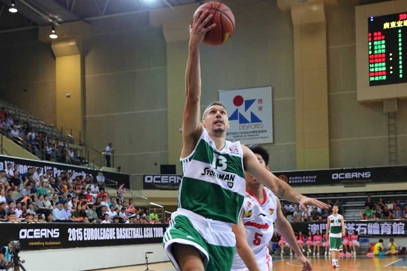 Dimitris Diamantidis - Panathinaikos Athens vs. Guangdong Tigers - World Tour 2015 - EB15