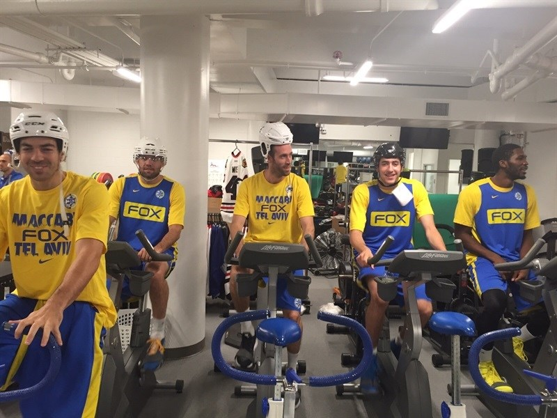 Maccabi FOX Tel Aviv practices in Chicago - World Tour USA 2015 - EB15 (photo Maccabi)