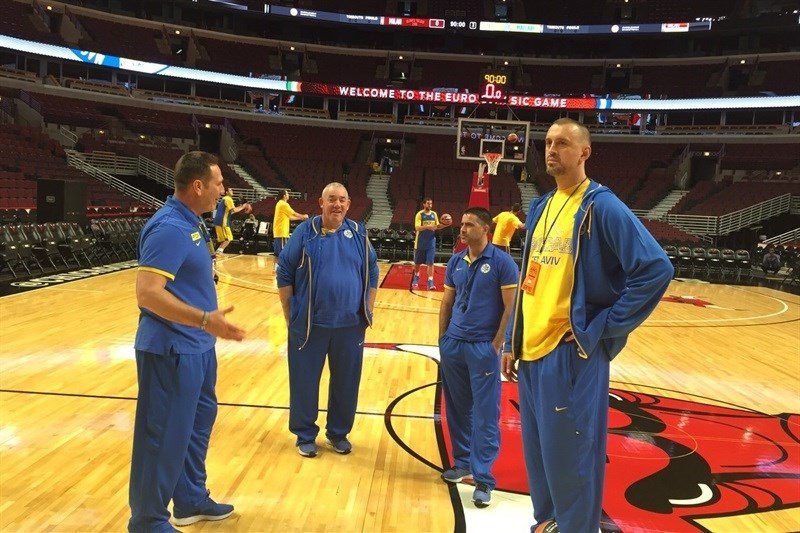 Guy Goodes, Maccabi FOX Tel Aviv practices in Chicago - World Tour USA 2015 - EB15 (photo Maccabi)