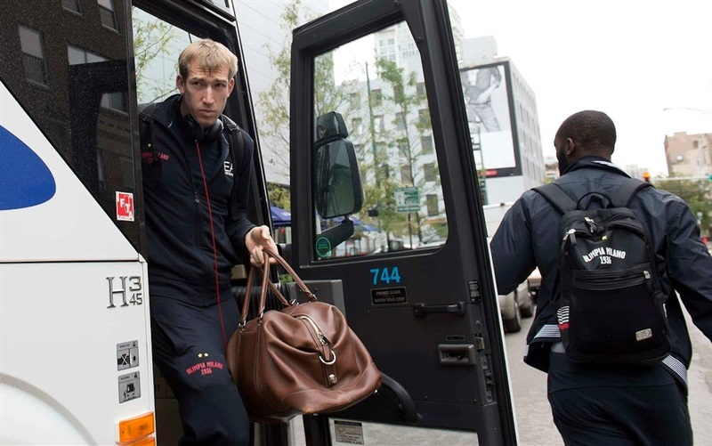 Robbie Hummel - Olimpia Milan in Chicago - World Tour USA 2015 - EB15 (photo EA7 Milan)