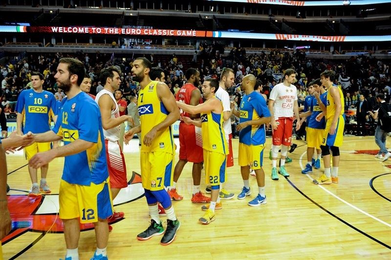 Players Maccabi FOX Tel Aviv and  Olimpia Milan in Chicago - World Tour USA 2015 - EB15 (photo Maccabi)