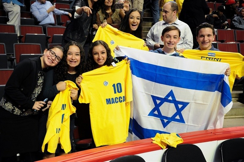 Fans Maccabi - Maccabi FOX Tel Aviv vs. Olimpia Milan in Chicago - World Tour USA 2015 - EB15 (photo Maccabi)