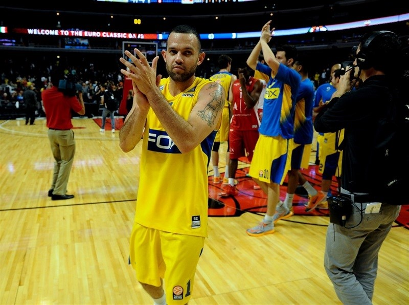 Jordan Farmar - Maccabi FOX Tel Aviv vs. Olimpia Milan in Chicago - World Tour USA 2015 - EB15 (photo Maccabi)