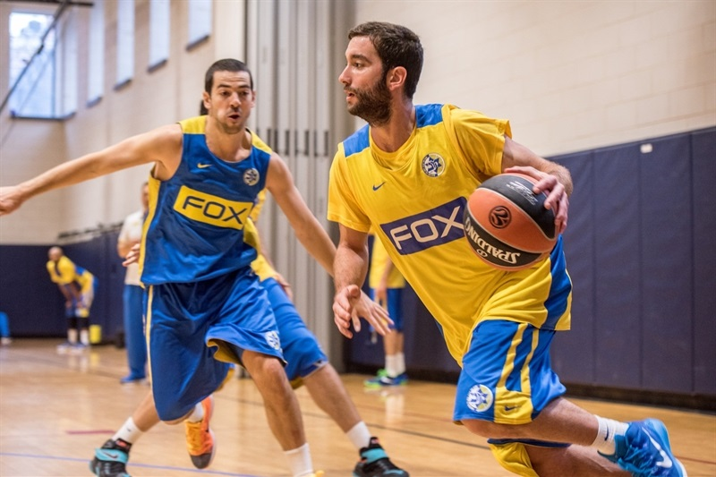 Yogev Ohayon - Maccabi FOX Tel Aviv practices in New York - World Tour USA 2015 - EB15 (photo Maccabi)
