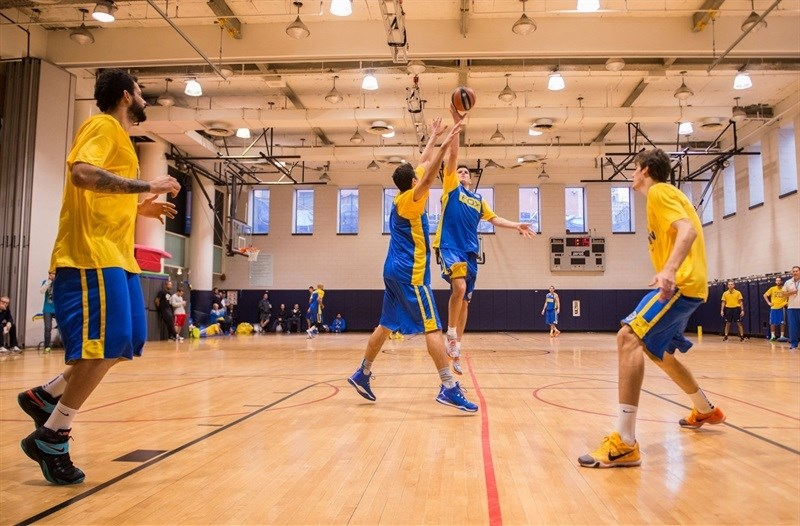 Maccabi FOX Tel Aviv practices in New York - World Tour USA 2015 - EB15 (photo Maccabi)