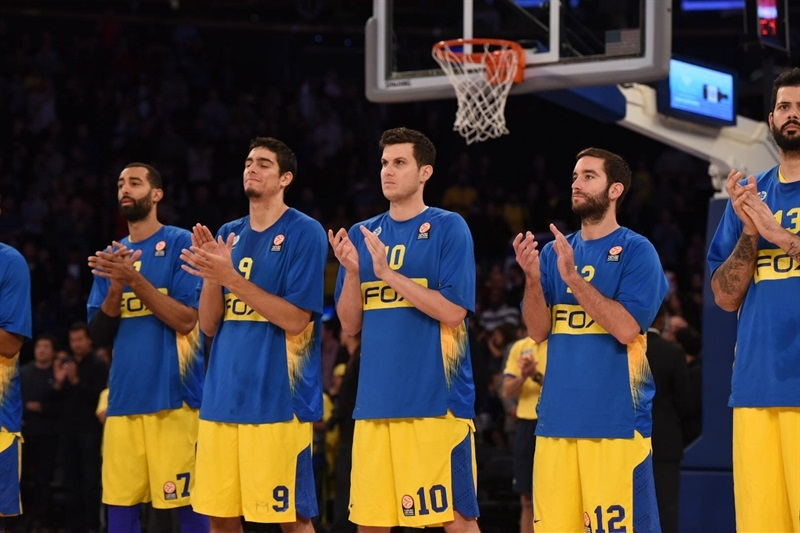 Players Maccabi FOX Tel Aviv, World Tour in New York (Photo Noam Galai)