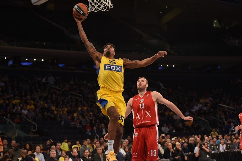 Sylven Landesberg - Maccabi FOX Tel Aviv, World Tour in New York (Photo Noam Galai)