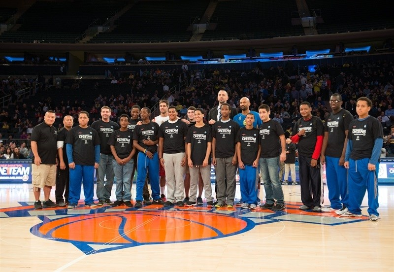 One Team, Special Olympics at Madison Square Garden - Maccabi FOX Tel Aviv vs. Olimpia Milan - World Tour in New York (Photo Noam Galai)