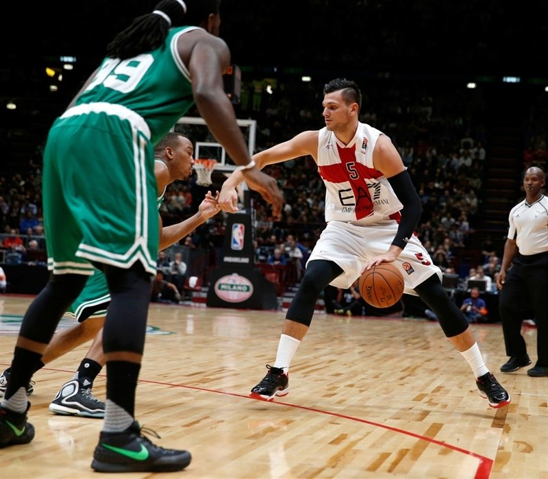 Alessandro Gentile - Olimpia Milan vs. Boston Celtics - NBA Global Games Milan - EB15 (photo NBA-Getty)