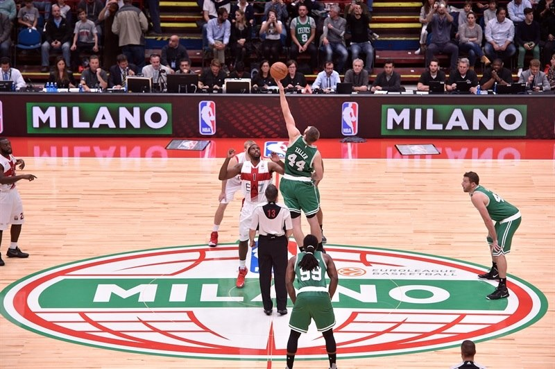 Tyler Zeller and Jamel McLean - Olimpia Milan vs. Boston Celtics - NBA Global Games Milan - EB15 (photo EA7 Milan)