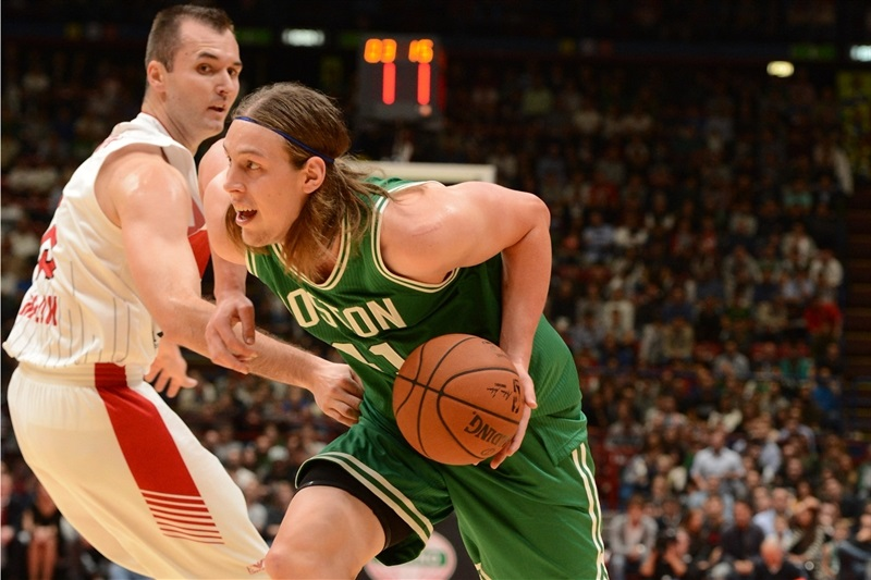 Milan Macvan and Kelly Olynyk - Olimpia Milan vs. Boston Celtics - NBA Global Games Milan - EB15 (photo NBA-Getty)