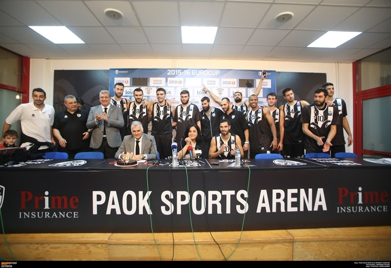300th Soulis Markopoulos official game with PAOK celebration in press conference - PAOK Thessaloniki - EC15 (photo PAOK)