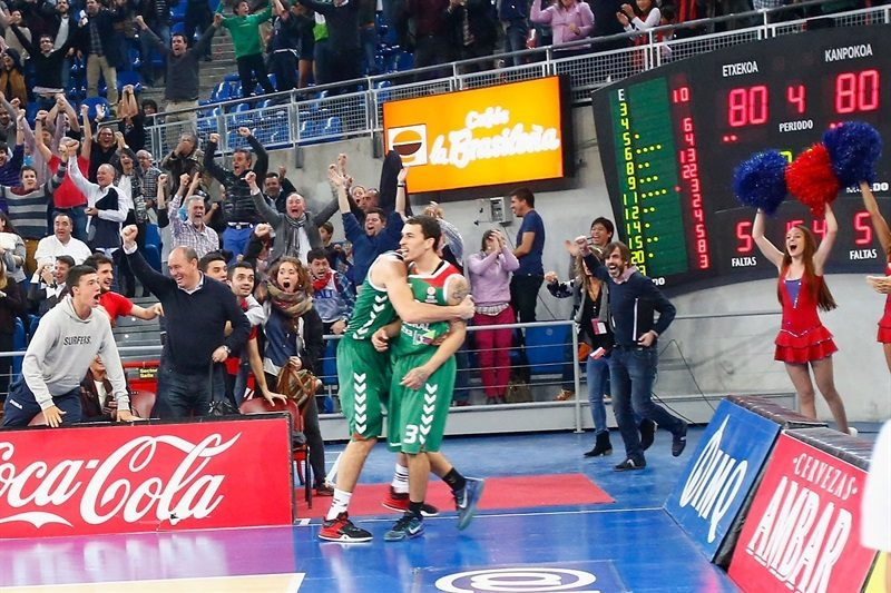 Mike James celebrates - Laboral Kutxa Vitoria Gasteiz - EB15