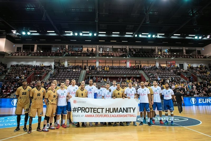 Protect Humanity - MHP RIESEN Ludwigsburg vs. Enel Basket Brindisi - EC15 (photo MHP RIESEN)