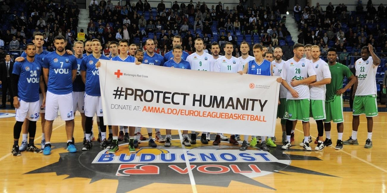 Protect Humanity - Buducnost VOLI vs. Unics Kazan - EC15 (photo Buducnost)