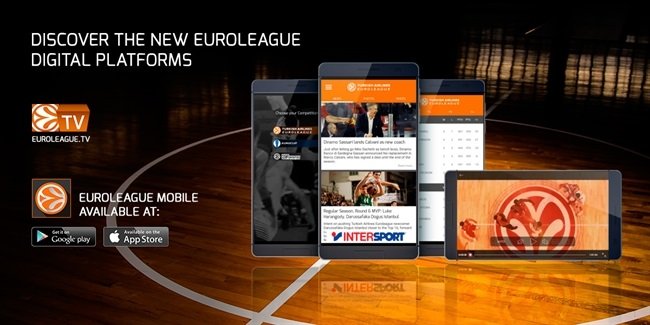 Euroleague Mobile, a European professional basketball go-to mobile destination