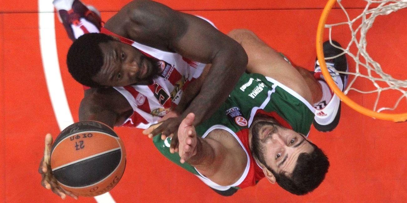 RS Round 7 report: Olympiacos tops Laboral and punches Top 16 ticket