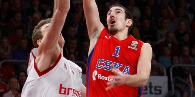 Regular Season, Round 8 co-MVPs: Nando De Colo of CSKA Moscow, Maik Zirbes of Crvena Zvezda