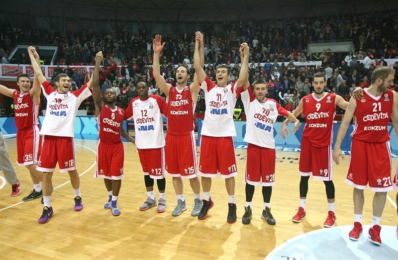 Players Cedevita Zagreb celebrates - EB15