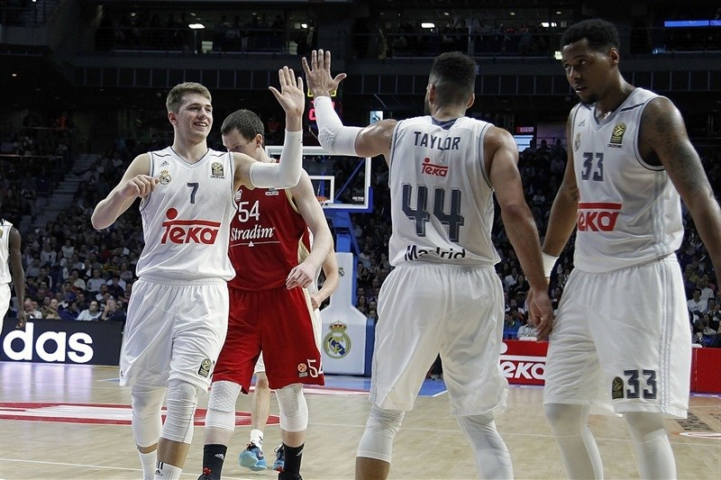 Luka Doncic celebrates - Real Madrid - EB15