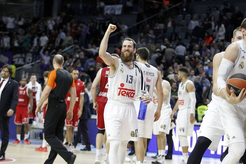 Sergio Rodriguez celebrates - Real Madrid - EB15