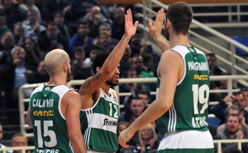 James Feldeine celebrates - Panathinaikos Athens - EB15