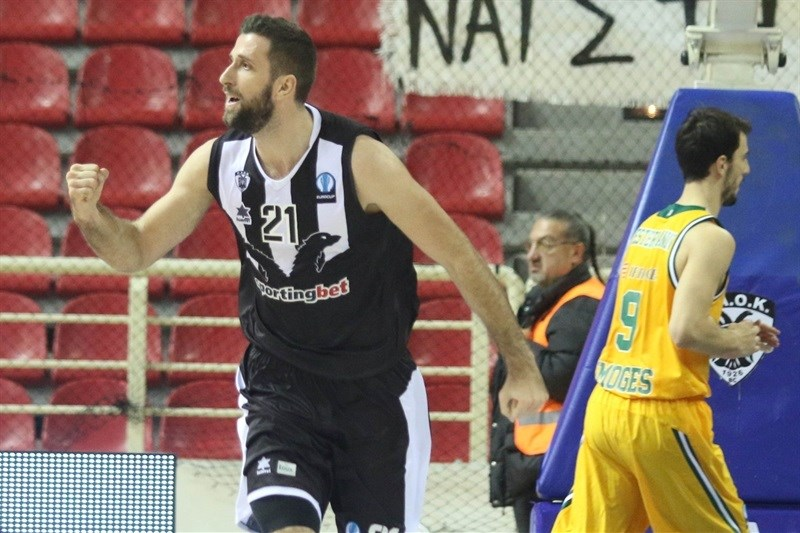 Nikola Markovic celebrates - PAOK Thessaloniki - EC15 (photo PAOK - megapress - pavlosmakridis)