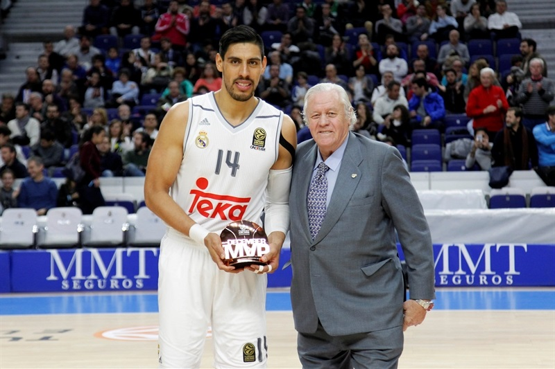 Gustavo Ayon, MVP December 2015 - Real Madrid - EB15