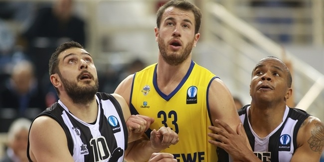 Last 32 Round 4 report: EWE Baskets Oldenburg sweeps PAOK and climbs atop Group I