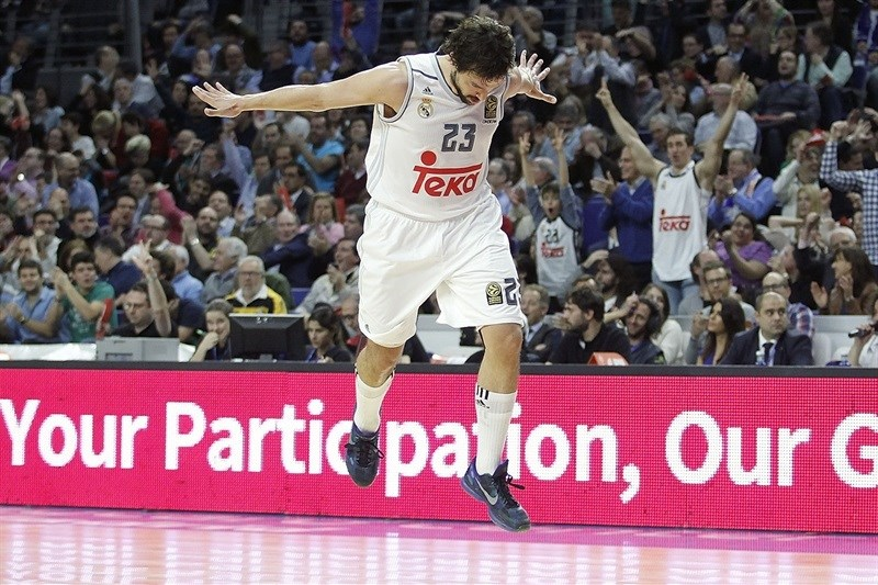 Sergio Llull celebrates - Real Madrid - EB15