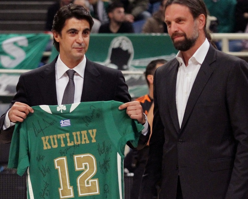 Ibrahim Kutluay, former player of Panathinaikos and current general manager of Darussafaka Dogus Istanbul - EB15