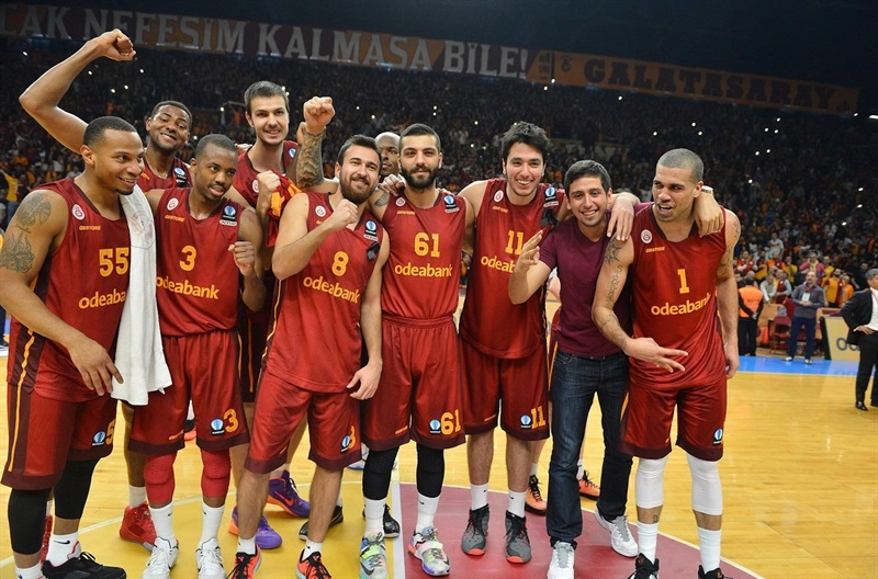 Players Galatasaray Odeabank Istanbul celebrates - EC15 (photo Galatasaray)