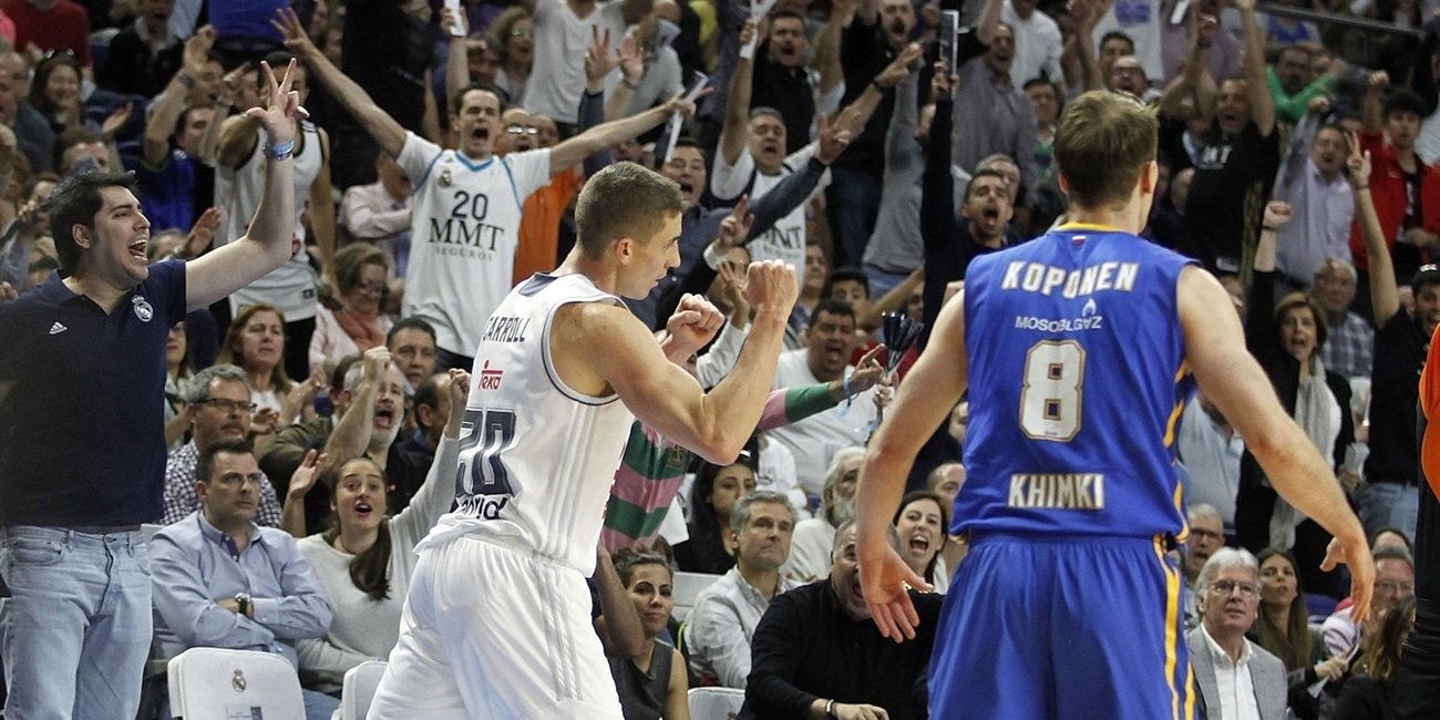 Jaycee Carroll celebrates - Real Madrid - EB15