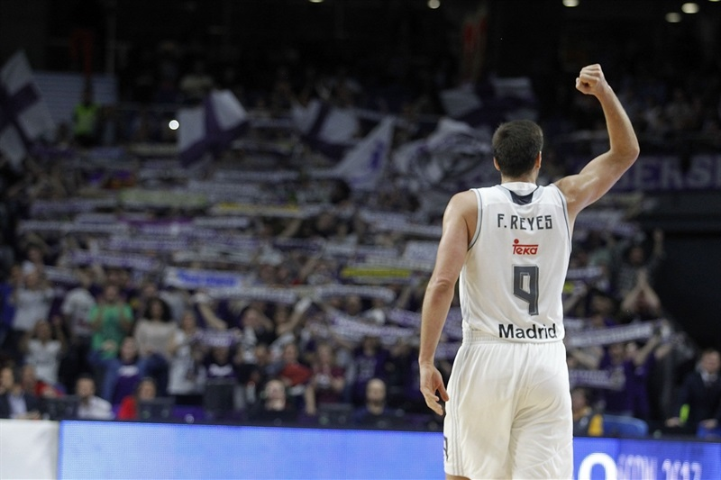 Felipe Reyes celebrates - Real Madrid - EB15