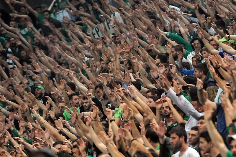 Fans in Olympic Sports Center Athens - Panathinaikos Athens - EB15