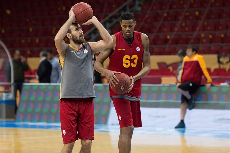 Dogukan Sanli - Galatasaray Odeabank practices in Istanbul - Eurocup Finals 2016 - EC15