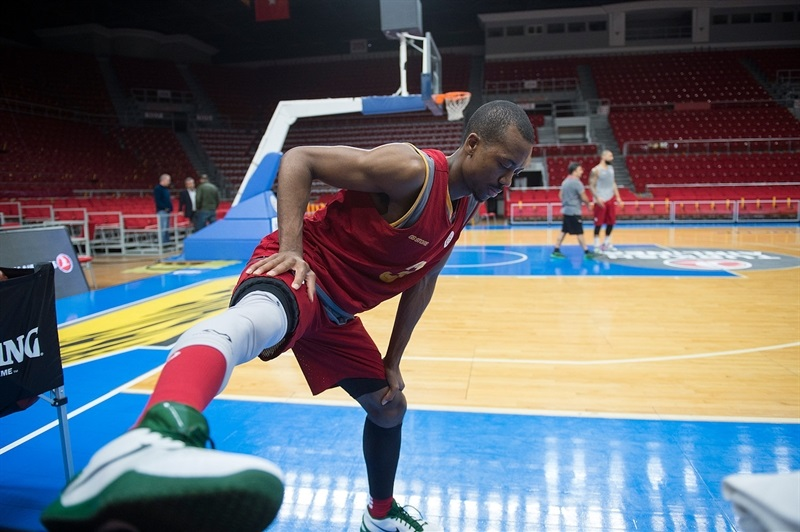 Errick McCollum - Galatasaray Odeabank practices in Istanbul - Eurocup Finals 2016 - EC15