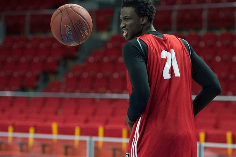 Bangaly Fofana - Strasbourg practices in Istanbul - Eurocup Finals 2016 - EC15