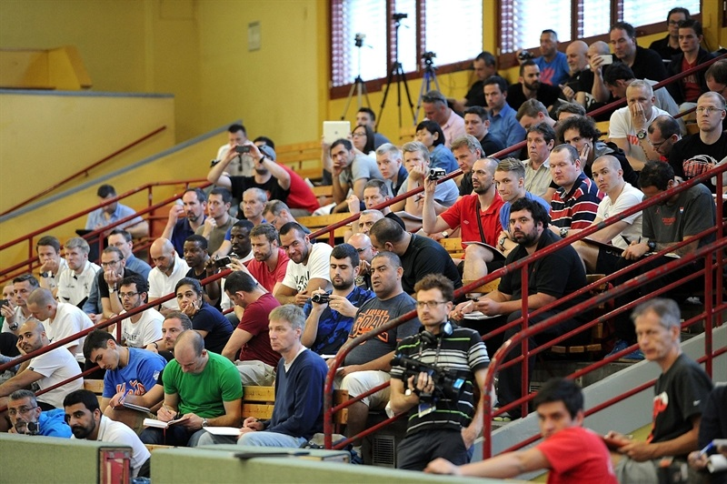 Spectators during Coaches Clinic at Sporthalle Schoeneberg - Final Four Berlin 2016 - EB15