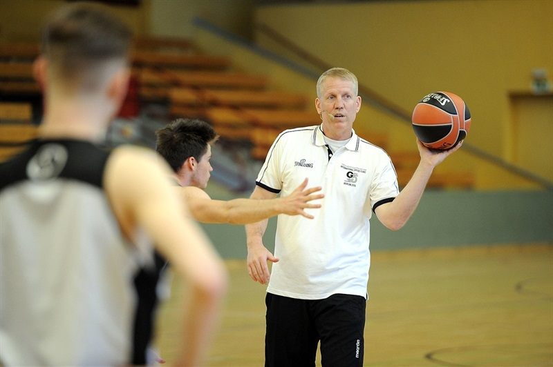 John Patrick during Coaches Clinic at Sporthalle Schoeneberg - Final Four Berlin 2016 - EB15