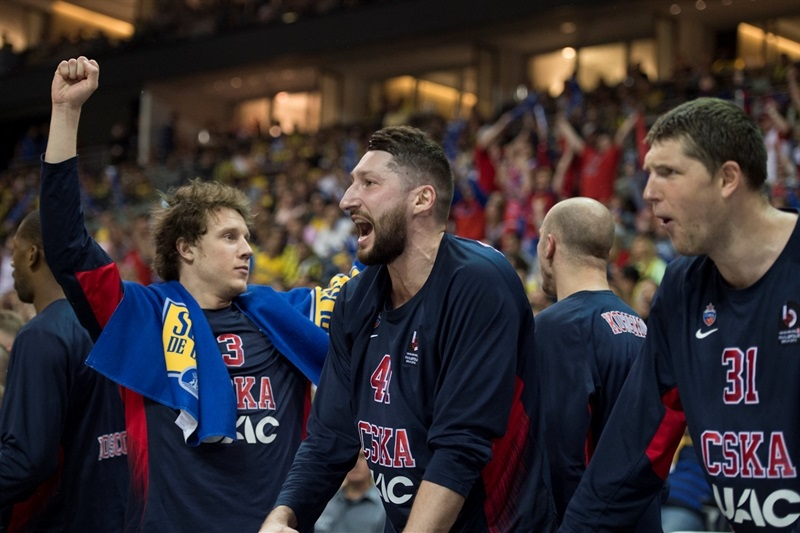 Nikita Kurbanov celebrates - CSKA Moscow - Final Four Berlin 2016 - EB15