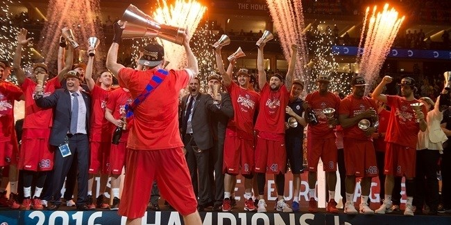 Final Four Berlin 2016 - CSKA Moscow title celebration!
