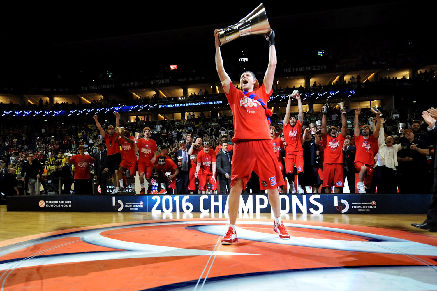 Victor Khryapa - CSKA Moscow Champ Euroleague - Final Four Berlin 2016 - EB15