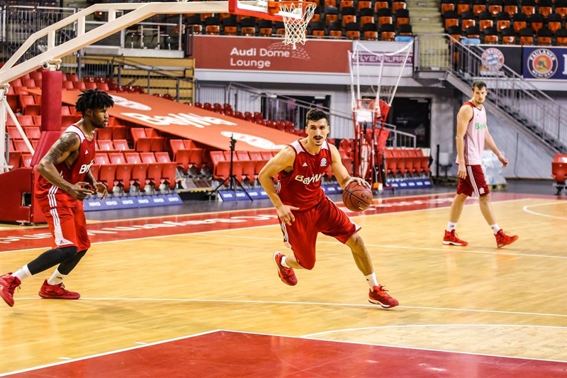 Nihad Djedovic starting a new campaign with FC Bayern Munich at the Audi Dome.